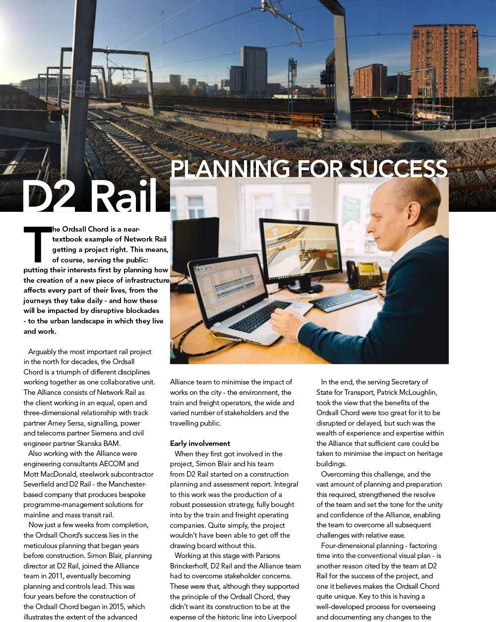 Rail Engineer feature for D2 Rail - Planning for Success